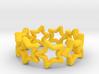 Stars Ring 17 3d printed