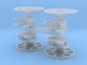 Brake Wheel with Sprue - Set of 4 3d printed