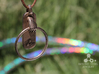 HulaHoop Pendant 3d printed Stainless Steel Finish