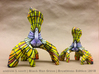 """BlackManGrove: Breathless Edition 5"""" 3d printed Back View 5"""" and 7"""" Sandstone Sculptures"""