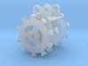 HO 1/87 compaction wheel with flange 3d printed