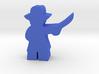 Game Piece, Civil War Officer, brimmed hat, sword 3d printed