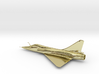 Dassault Mirage 2000 gold 100mm 3d printed