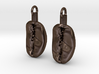 Coffee Bean Earrings 3d printed