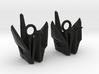 Origami Crane Earrings 3d printed