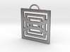 Endlessly Square Pendant 3d printed
