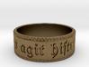 Totus mundus agit histrionem Ring Size 9.75 3d printed