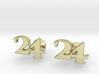 Monogram Cufflinks 24 3d printed