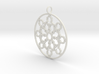Mandelbrot Web Pendant 3d printed