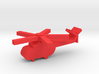 Game Piece, Red Force Hip Russian Heli 3d printed