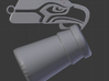 Seahawk Logo Key chain and Bottle Opener 3d printed