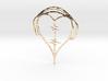 Musical Heart Pendant 3d printed