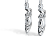 Interlock Earrings 3d printed
