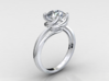 CD248 - Jewelry Engagement Ring 3D Printed Wax Res 3d printed