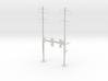 HO Scale PRR W-signal Beam 2 Track  W 2-2 PHASE R 3d printed