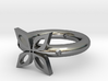The ring of four leaves 3d printed