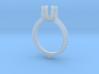 Ic14-B-Engagement Ring 3d printed