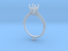 JT21-Engagement Ring Printed Wax 3d printed