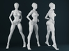 1:32 Strong Woman 009 3d printed