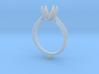 CC22-Engagement Ring Printed Wax. 3d printed