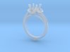 CC11 -Engagement Ring Printed Wax. 3d printed
