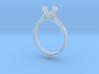 CC27-Engagement Ring Printed Wax. 3d printed