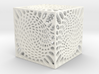 Voronoi cube lampshade ~ 100mm tall 3d printed