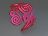 2 Spirals and ovals ring 3d printed 2 Spirals and ovals ring (Pink)