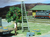 HO Scale, Four 15' Ladders 3d printed Painted and Detailed