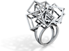 Zicube-3d printed jewelry-size 8 3d printed