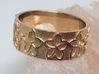 Plumeria Flower Ring Size 11 3d printed Shown in 14k Gold Plated