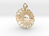 Always and Forever Pendant 3d printed 14k Gold Plated by Koogee Brown