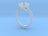 CC4 - Engagement Ring 3D Printed Resin Wax . 3d printed