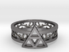 Triforce Ring_Size06 3d printed