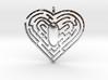 Heart Maze-shape Pendant 1 3d printed