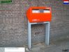 5 Mailboxes - Dutch (1:87) 3d printed