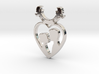 Two in One Heart with Doves V2 Pendant - Amour 3d printed