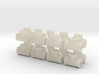 """7/8"""" scale pipe fittings: 1 1/2"""" pipe 3d printed"""