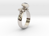 Ring 'Diamonds are Forever' 3d printed
