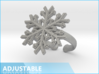 Snowflake Ring 1 d=19.5mm Adjustable h35d195a 3d printed