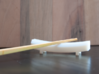 TORii chopstick rest 3d printed printed in White Strong & Flexible