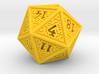 Hedron D20 (Solid), balanced gaming die 3d printed