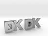 Monogram Cufflinks DK 3d printed