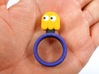 "Pac-Man ""Clyde"" Ghost Ring 3d printed"