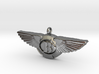 Pendant with wings /  50mm width 3d printed