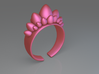 Dino Eggs Ring 3d printed Dino Eggs ring (Pink)