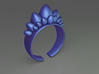 Dino Eggs Ring 3d printed Dino Eggs ring (Blue)