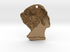 Roman Selfie Charm 3d printed Unpolished Brass