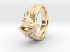 Organic Heart Ring European size16  3d printed