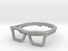 Hipster Glasses Ring Origin Size 10 (size 6-10) 3d printed